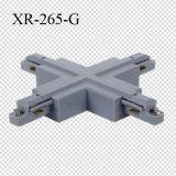 Weiß/Schwarzes/grauer Spur-Schienen-Verbinder der einphasig-Kreuz-Form-LED (XR-265)
