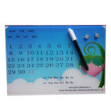Planificador borrable seco de cristal magnético de Whiteboard del calendario semanal