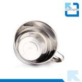 Polimento fino 304 aço inoxidável copo de macarrão instantâneo e tigelas com alça e tampa