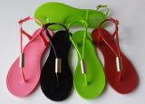 Sandália das mulheres do PVC da senhora Geléia Shantou