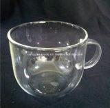 Taza de cristal transparente modificada para requisitos particulares maravillosa
