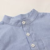 Мальчики голубые и белая Striped рубашка на весна/осень