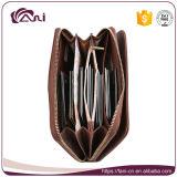 Кожаный бумажник перемещения, бумажник застежки -молнии PU цвета Brown для повелительницы