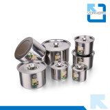 De Kom van de Saus van het Roestvrij staal van de multi-grootte/de Pot van de Specerij/de Kop van het Aroma/Container met Deksel