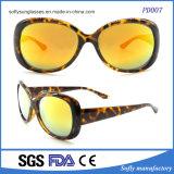 Gafas de sol de la lente de la capa del marco de la elipse de la manera de las mujeres de gran tamaño