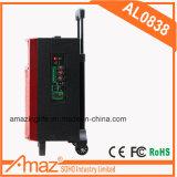 Nachladbare Laufkatze-beweglicher Lautsprecher mit LED-Licht