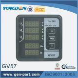 Voltímetro eletrônico trifásico da tela LED
