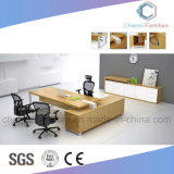 회의 책상을%s 가진 현대 L 모양 사무실 테이블