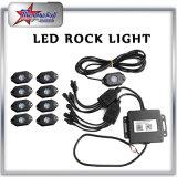 LED Rock Lights IP68 Waterproof Mini Rock Light pour voitures, extérieur, jeep, hors route RGB Rock Light Bluetooth Control Boat Light