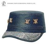 O chapéu lavado de Mitary do tampão do chapéu de Fidel do tampão boné de beisebol militar ostenta o tampão da forma do chapéu