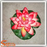 Rocalla Decoración artificial de agua de Lotus a prueba de plástico de la flor