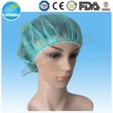 Protezione Bouffant chirurgica non tessuta verde/blu, protezione chirurgica di SMS