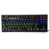Nueva luz de fondo USB 87 Tecla del teclado mecánico