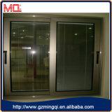 Алюминиевое сползая окно с бронзовым цветом