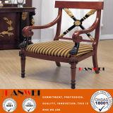 Деревянный стол обедая стул твердой древесины с подлокотником