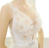 Correias de espaguete Beading A-Line Wedding Dress (Dream-100097)