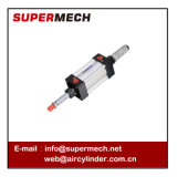 Tipo ajustável padrão cilindro pneumático do curso do ISO 15552 feito em Ningbo
