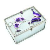 Comercio al por mayor baratos de logotipo personalizado Joyero cristal/anillo collar/CAJA CAJA (HX-7250)