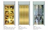 로즈 금 미러 스테인리스 홈 엘리베이터를 가진 사치품