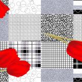 шотландка Pigment&Disperse тюльпана 100%Polyester напечатала ткань для комплекта постельных принадлежностей