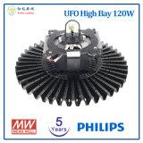 フィリップスLEDチップおよびMeanwellの電源が付いている高い湾LEDライト5年の保証120W UFO