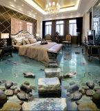 disegno 3D per le mattonelle della stanza da bagno delle mattonelle di pavimento dell'hotel
