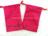 Petite sac de cordage de promotion sac de sac en velours Sac de pochette