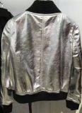 Casaco de couro curto para mulheres, roupas de moda