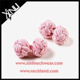 Manípulos de punho de nó de seda de moda personalizado