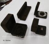 Rectángulo de regalo de encargo de la visualización de Pakage de la joyería del terciopelo