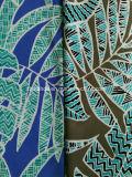 Tela azul de la impresión de la hoja para el traje de baño (HD1401109)