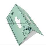 Etiqueta de dobragem personalizado travando a impressão do cartão de plástico / cartão / Cartão de cor