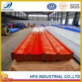 Tôle d'acier ondulée de toiture de couleur de matériau de construction
