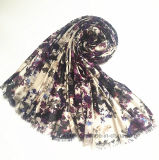 Manier BSCI Flourish Printed Scarf in 100% Viscose (HM091)
