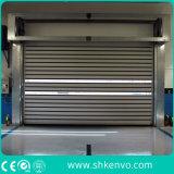 Portas rápidas aéreas do rolamento da ação do metal industrial da liga de alumínio do armazém