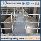Rejilla de acero galvanizado suelo para la plataforma de la estructura de acero