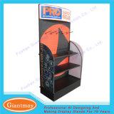 Используемая стойка индикации Pegboard металла торговой выставки для ручных резцов с крюками и полкой