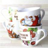 tazza di caffè di ceramica della porcellana di 10oz Liling stampata