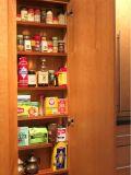 Unidade moderna norte-americana da cozinha do apartamento