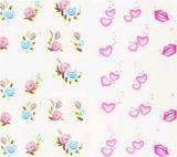 Etiqueta engomada del clavo de la etiqueta engomada del arte del clavo de la transferencia del agua de las etiquetas de la flor del corazón