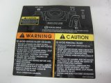 Contrassegni UV ecologici di avvertenza di stampa