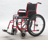 Manuale d'acciaio, pieghevole, sedia a rotelle, (YJ-017H)