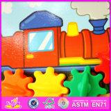 Novo Design 2016 Cartoon brinquedos para bebés de madeira W01b030