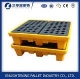 Pallet giallo e nero di contenimento di caduta del timpano del polietilene 4
