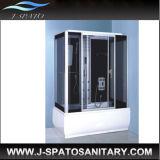 Nouvelle salle de bains en verre trempé de la vapeur une cabine de douche avec douche de massage de pied (JS-7105)