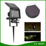 Sensor de movimiento de la seguridad de la lámpara halógena LED de luz solar Jardín al aire libre suelo paisaje Spot