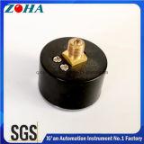 Mini tipo de cobre amarillo del anuncio publicitario del conector del caso plástico del vacío del calibrador de presión