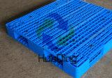 plastic Pallet van het Dek van het Net van 1100*1100*150mm de Op zwaar werk berekende Omkeerbare
