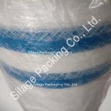 Rete molle bianca dell'imballaggio, rete poco costosa dell'involucro di plastica, rete della balla tessuta vendita calda, rete tessuta standard del Giappone