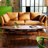 Il sofà moderno del cuoio di stile dell'Italia della mobilia del salone ha impostato (F629-3)